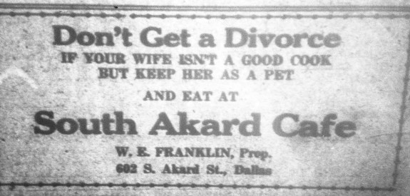 1922 KKK Newspaper Ad