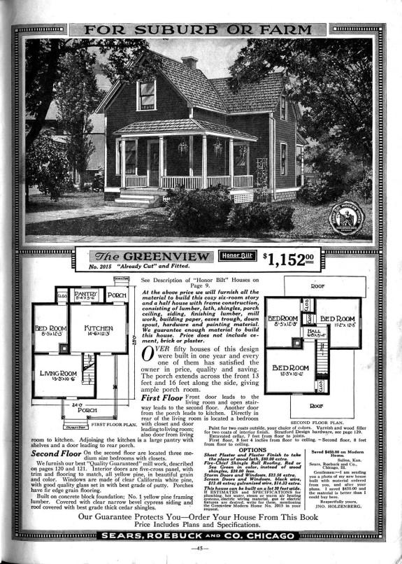 Boyd House, Greenview Model Sears House